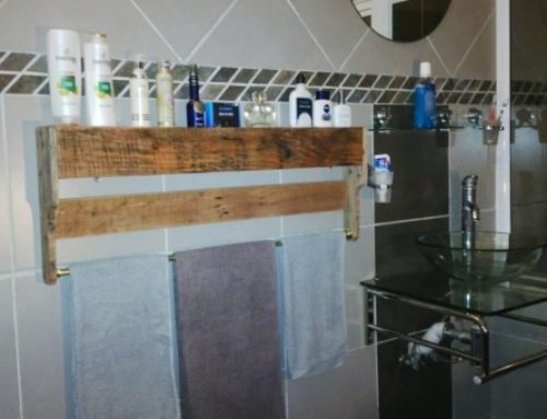 DIY- Wooden Bathroom Towel Rail